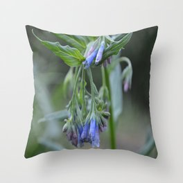 Blue Flower up in the Moutains Throw Pillow