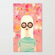Girl with big glasses (II) Canvas Print