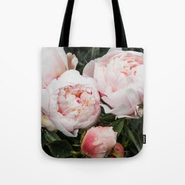 Flower Photography | Peonies Cluster | Blush Pink Floral | Peony Tote Bag