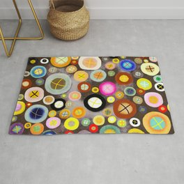 The incident - Circles pale vintage cross Rug