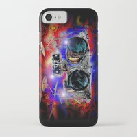 drums iPhone & iPod Cases featuring Psychedelic Drums by JT Digital Art