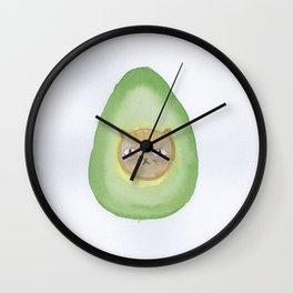 Grumpy Avocatdo by MIMM WORLD Wall Clock