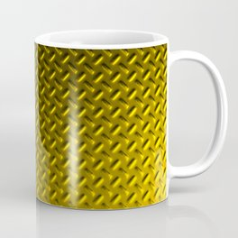 Dirty checkered gold plate Coffee Mug