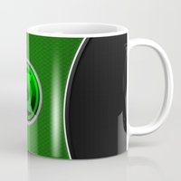 green lantern Mugs featuring Green Lantern by Thorin
