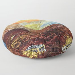 Vesuvius and the Gulf of Naples Floor Pillow