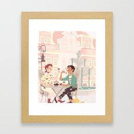 Coffee Date Framed Art Print
