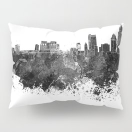 Mobile skyline in black watercolor Pillow Sham