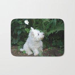 Flower puppy Bath Mat