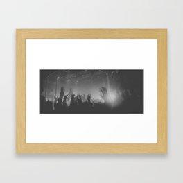 Silhouette Crowd Framed Art Print