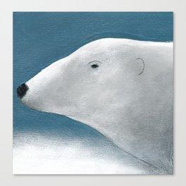 Blue Day Polar Bear Canvas Print