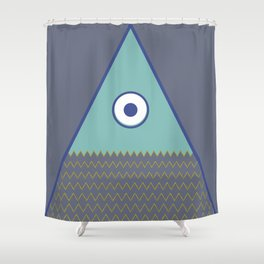 Never ending fish 1 part 1 Shower Curtain