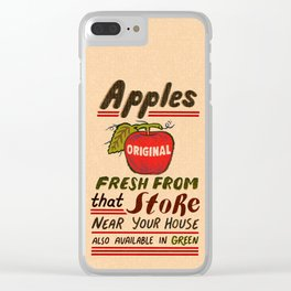 Fresh Apples Clear iPhone Case