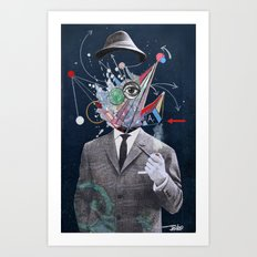ALLEGORICAL MAN Art Print
