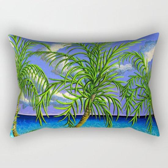 palms and sea Rectangular Pillow