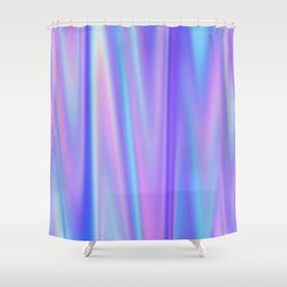 Iridescent Holographic Abstract Colorful Pattern Shower Curtain