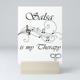 Salsa is my therapy Mini Art Print