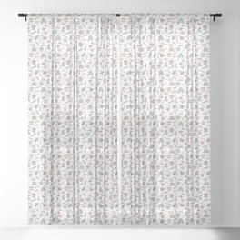 Cute Dungeons and Dragons Pattern Sheer Curtain