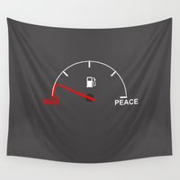 war Wall Tapestries featuring War meter by Badamg