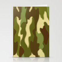 camo Stationery Cards featuring CAMO by Bruce Stanfield