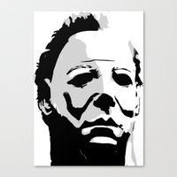 michael myers Canvas Prints featuring MICHAEL MYERS by Genedela