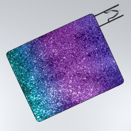 Unicorn Girls Glitter #10 #shiny #decor #art #society6 Picnic Blanket