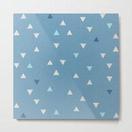 DOWN UP / niagara blue / island paradise / peanut / prussian blue Metal Print