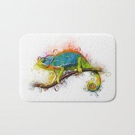 Chameleon Art Bath Mat