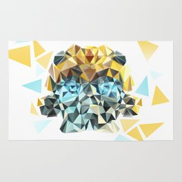 Bumblebee Low Poly Portrait Rug