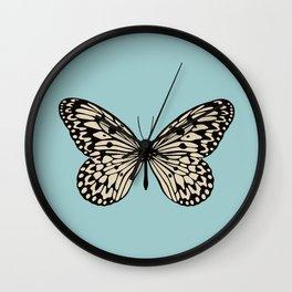 Paper Kite Moth (Idea Leuconoe) Wall Clock