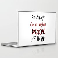 vikings Laptop & iPad Skins featuring Raiding 2, Vikings by ZsaMo Design