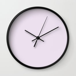 Pink lilac , solid Wall Clock