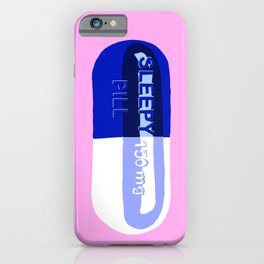 Sleepy Pill Pink iPhone Case