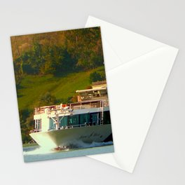 Cruise ship on the river Danube | waterscape photography Stationery Cards