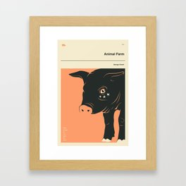 'SOME ANIMALS ARE MORE EQUAL THAN OTHERS' Framed Art Print