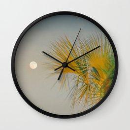 Moon and Palm Wall Clock