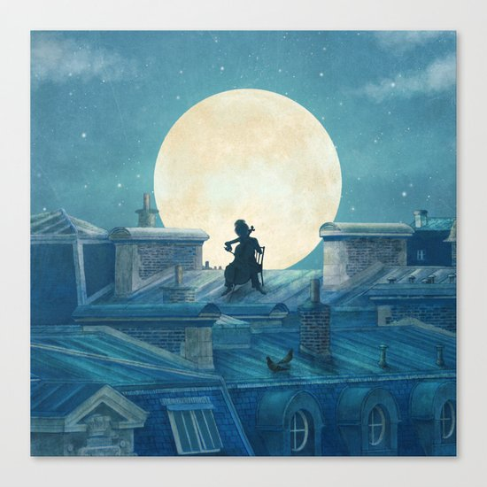 Rooftoppers - square format  Canvas Print