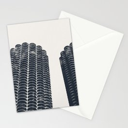 Chicago Architecture, Marina City, Chicago Wall Art, Chicago Art, Chicago Photography, Canvas Art Stationery Cards