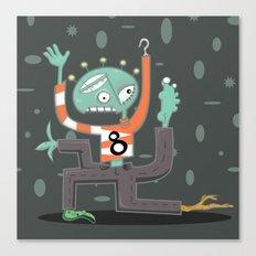 Crazy Alien Canvas Print