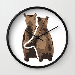 BEAR COUPLE Wall Clock