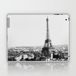 Paris City Sky // Eiffel Tower City Landscape Photography Shot from the top of Champs Elysees France Laptop & iPad Skin