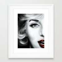 marilyn Framed Art Prints featuring Marilyn  by Lily Fitch