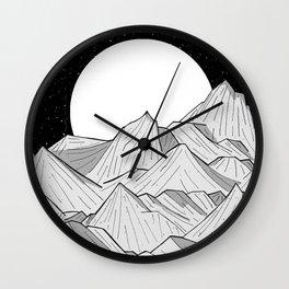 Big moon mounts Wall Clock