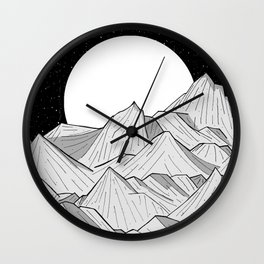 Big moon mounts Wall Clock