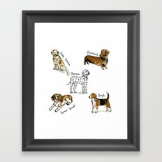 Dogs. Framed Art Print