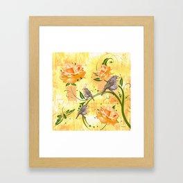 The Sparrow's Melody Framed Art Print