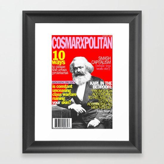 COSMARXPOLITAN, Issue 1 Framed Art Print