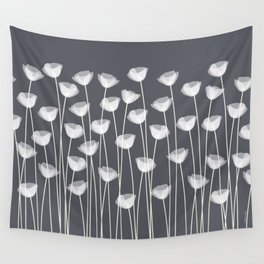White Poppies Wall Tapestry