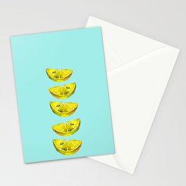 Lemon Slices Turquoise Stationery Cards