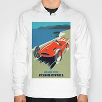 grand theft auto Hoodies featuring Retro style auto Grand Prix Rivièra by aapshop