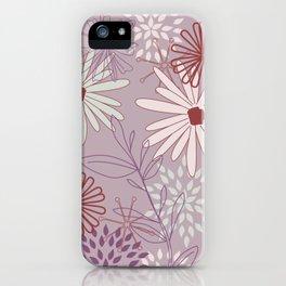 mauve flowers iPhone Case